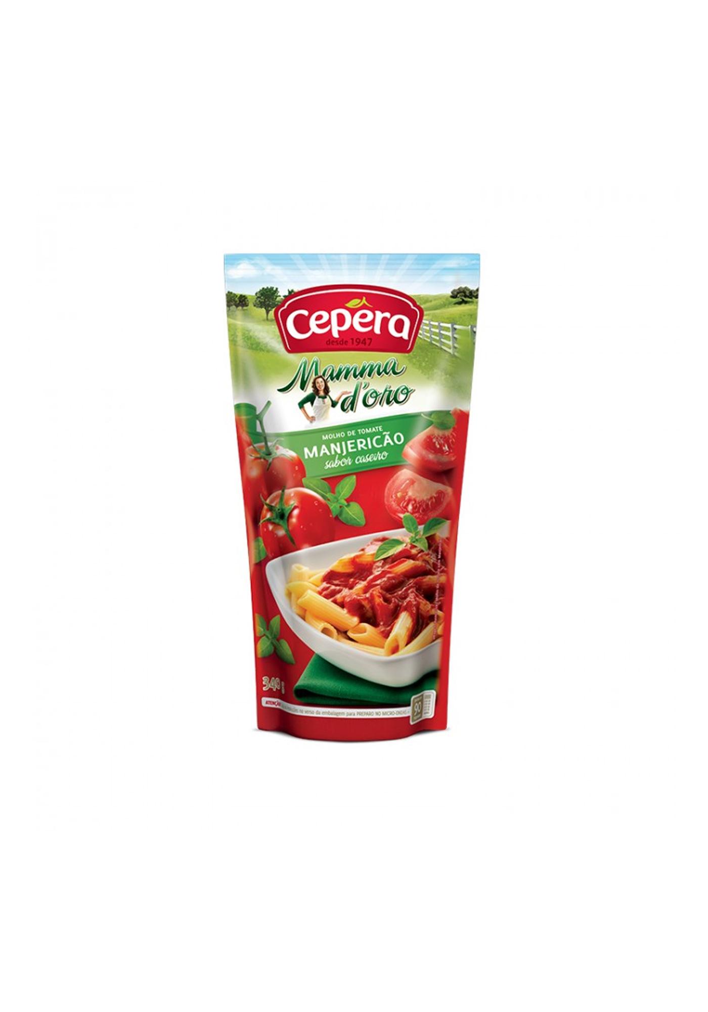 molho de tomate manjericao cepera